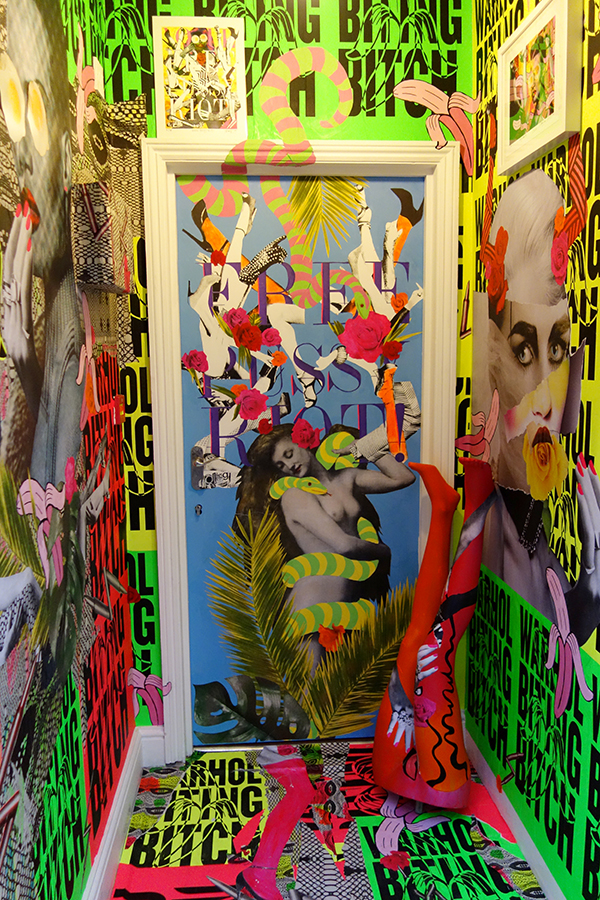 "Shuby, Aida & Collagism ""HYSTERIA"" Installation of Collage, SilkScreen, Painting, Sculpture, The Vestibule London 2013"